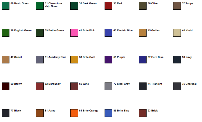 Championship Pool Table Cloth KinneyBilliardscom - Pool table felt colors chart